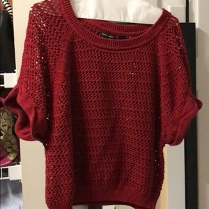 Used red Sweater from VS.